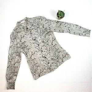 Equipment Femme Silk Python Pattern Blouse SZ M
